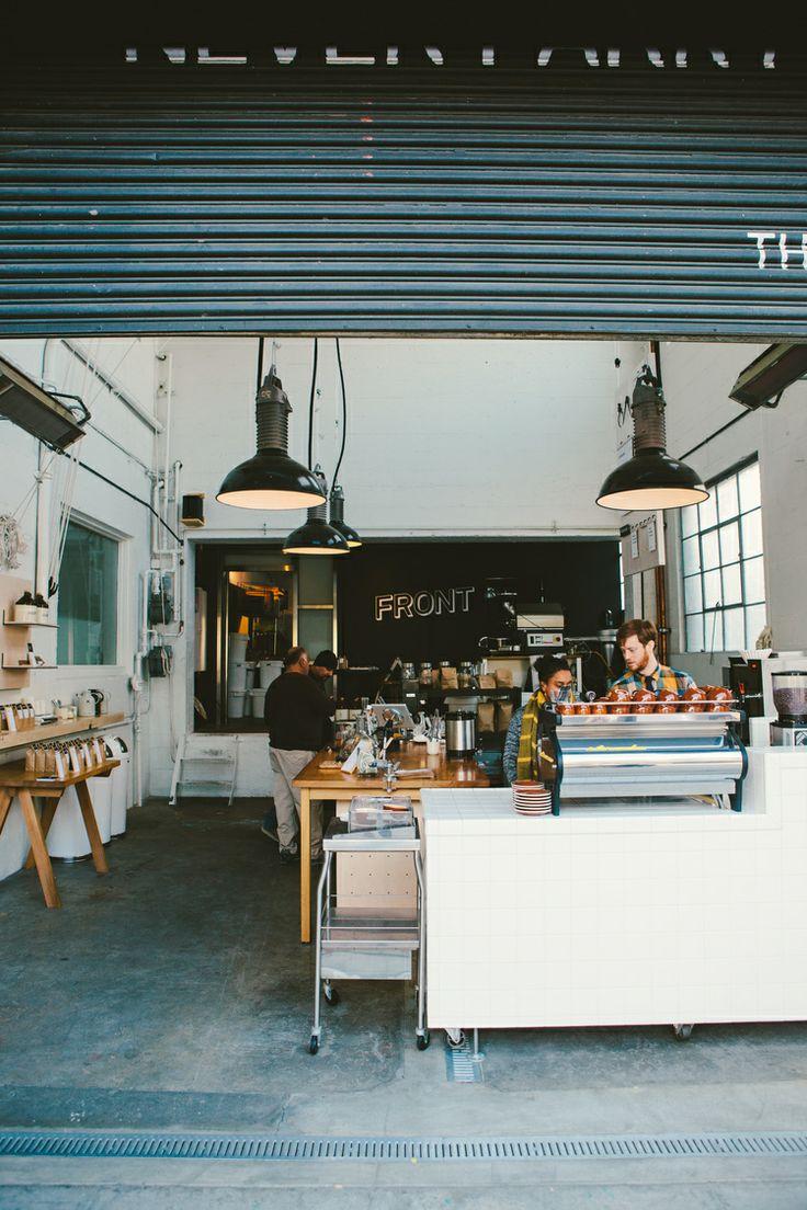 Front Coffee Company San Francisco. Love the consistent industrial design-popuprepublic.com