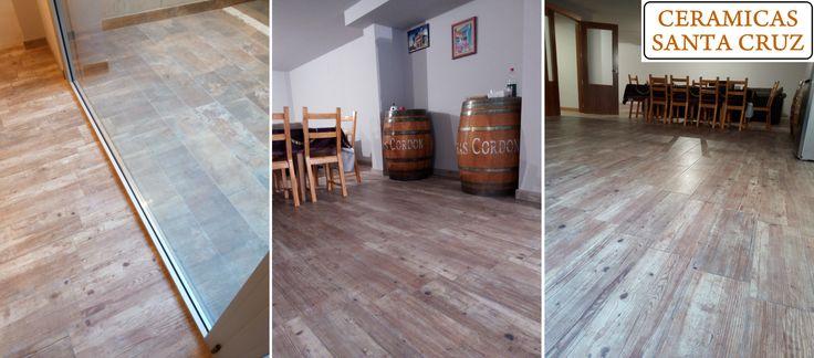 Las 25 mejores ideas sobre baldosa en imitaci n de madera - Baldosas imitacion parquet ...