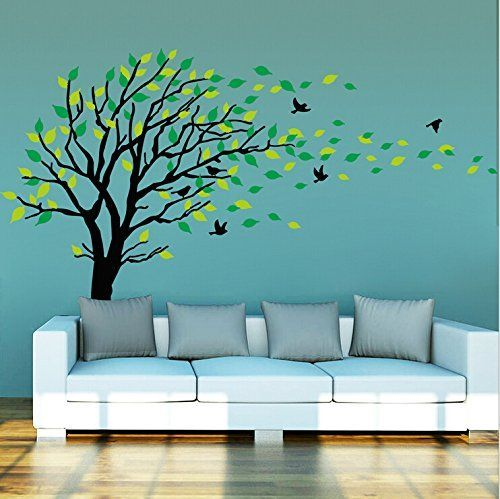 Large Dark and Green Tree Blowing in the Wind Tree Wall Decals Wall Sticker Vinyl Art Kids Rooms Teen Girls Boys Wallpaper Murals Sticker Wall Stickers Nursery Decor Nursery Decals MAFENT http://www.amazon.com/dp/B015H89OEC/ref=cm_sw_r_pi_dp_LAF1wb0H842A2