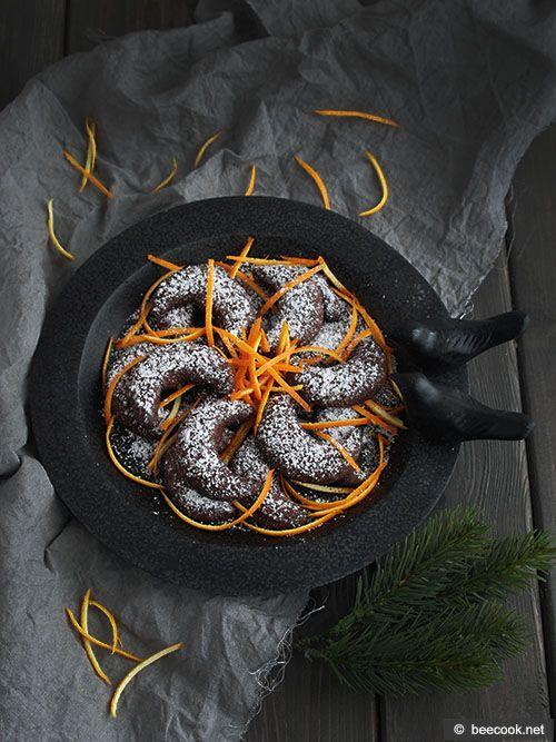 Шоколадные полумесяцы с апельсином и корицей