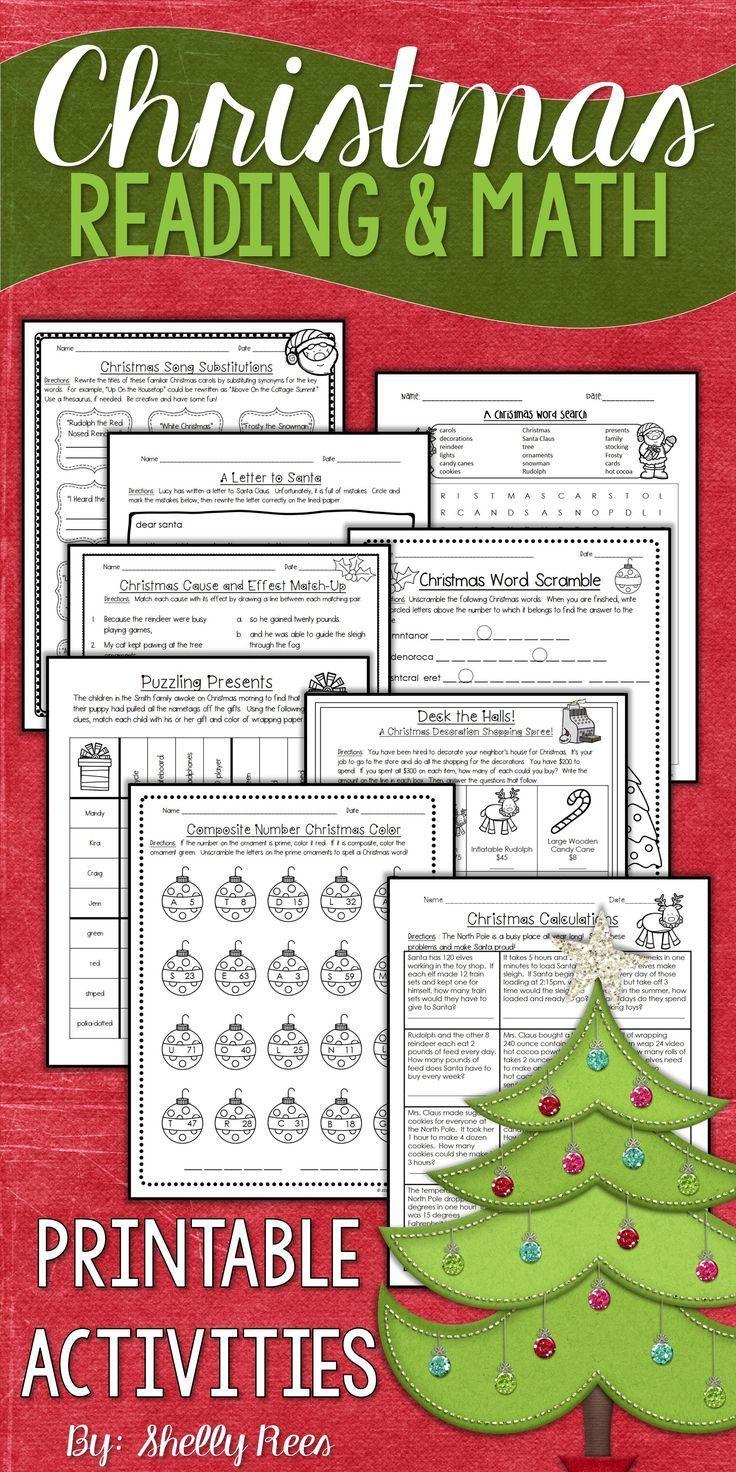Christmas Math And Christmas Reading Worksheets Christmas Math Activities Christmas Reading Christmas Math [ 1472 x 736 Pixel ]