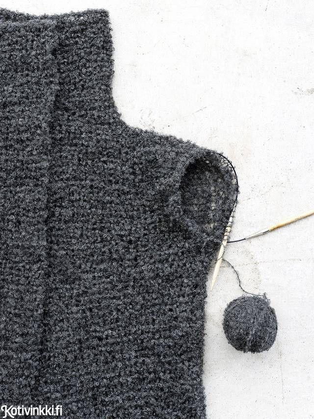 Helppo neuletakki joka vartalolle - katso ohje! Buklee-langasta neulottu takki on ihanan kevyt päällä.