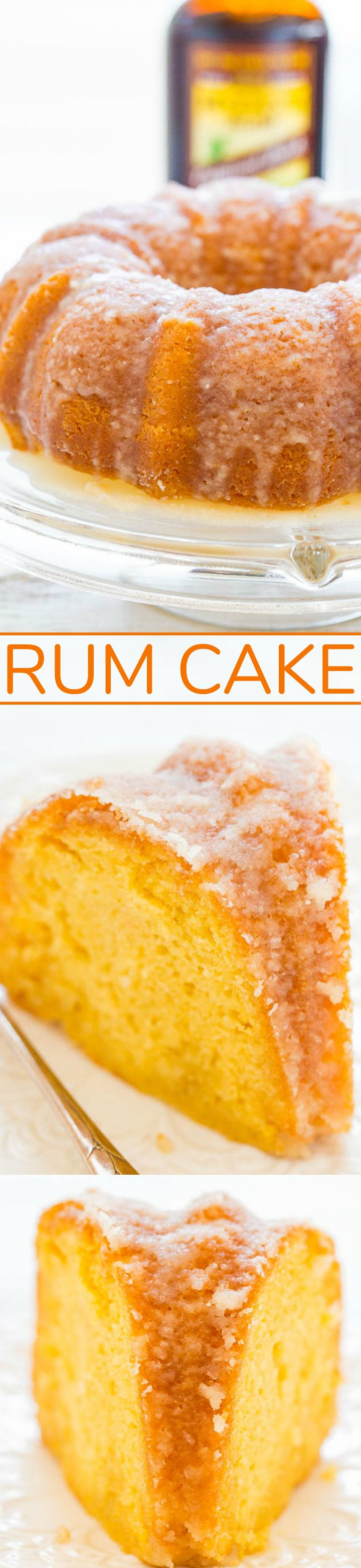 Rum Cake – A double dose of rum in this EASY cake that's supremely moist, buttery, and literally juicy from all the rum!! The perfect make-ahead holiday entertaining cake that everyone will LOVE!!