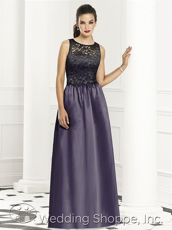 After Six Bridesmaid Dress 6657 // Lace bridesmaid dresses at the Wedding Shoppe. #lace #wedding #purple #bridesmaiddresses