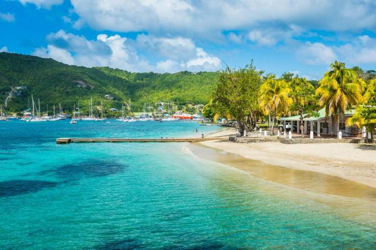 EH8ADA Town beach of Port Elizabeth, Admiralty Bay, Bequia, The Grenadines, Windward Islands, West Indies, Caribbean(News Standard Telegraph Optimisation)