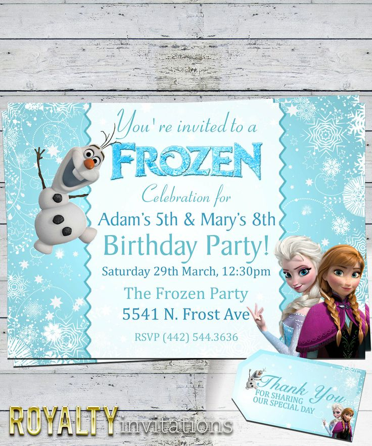 298 best Frozen birthday party images on Pinterest Painted faces - invitation birthday frozen