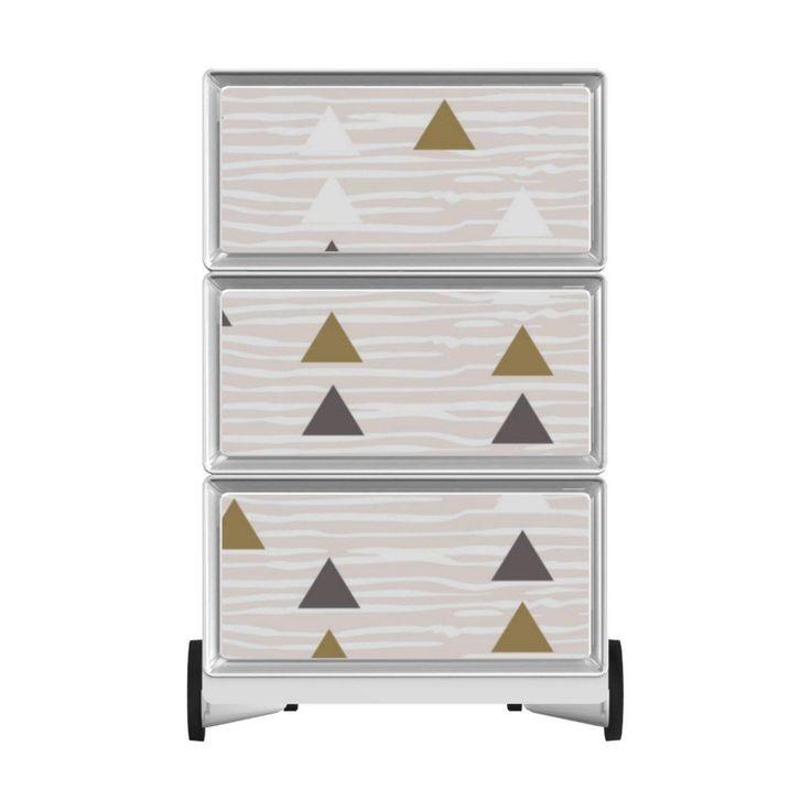 Caisson de bureau à roulettes 3 tiroirs – INSPIRATION ETHNIQUE