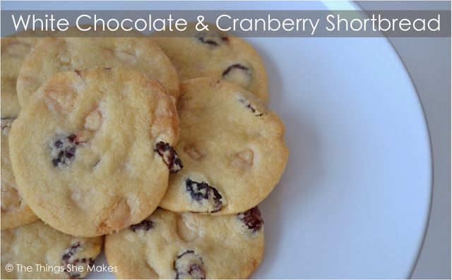 White Chocolate and Cranberry Shortbread | The Things She Makes | Pin ...