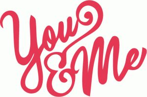 you and me hand lettering title