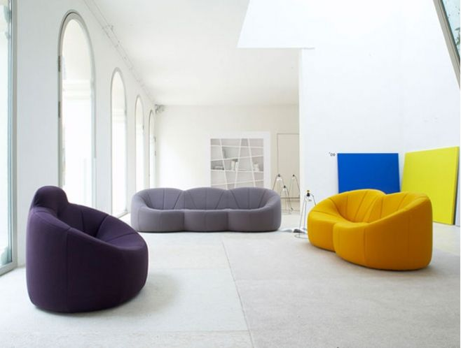 Pumpkin Lounge - also want. Want all of the Ligne Roset couchage
