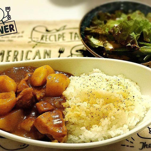今夜はカレー。 食べ応えがあるように、具材は大きめにカット。 #夕食 #夕飯 #晩飯 #晩ごはん #夜ごはん #ディナー #カレー #カレーライス #じゃがいも #豚肉 #肉 #ごはん #ゴロゴロ #辛口 #料理 #インド #dinner #curry #curryrice #potato #pork #meat #rice #hot #cooking #india #japanese