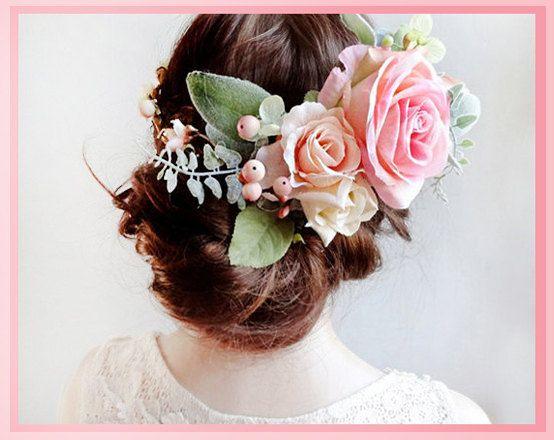 fiore nuziale corona, corona di fiori rosa, fiore matrimonio corona, copricapo da sposa, copricapo, corona di fiori rosa, grande rosa