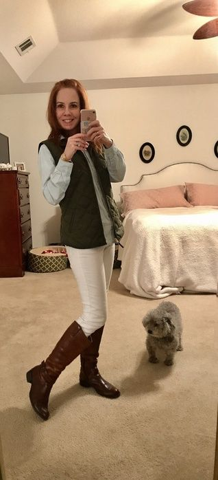 I LOVE this Old Navy vest in the greenish color called crocodile tears! I have linked the exact vest & its 50% off through tonight! I have linked similar everything else. My chambray top is Old Navy from several years ago. My jeans are from Target (also several years old), and my boots are BOC by Born.  #ShopStyle #MyShopStyle #ootd #mylook #todaysdetails #shopthelook