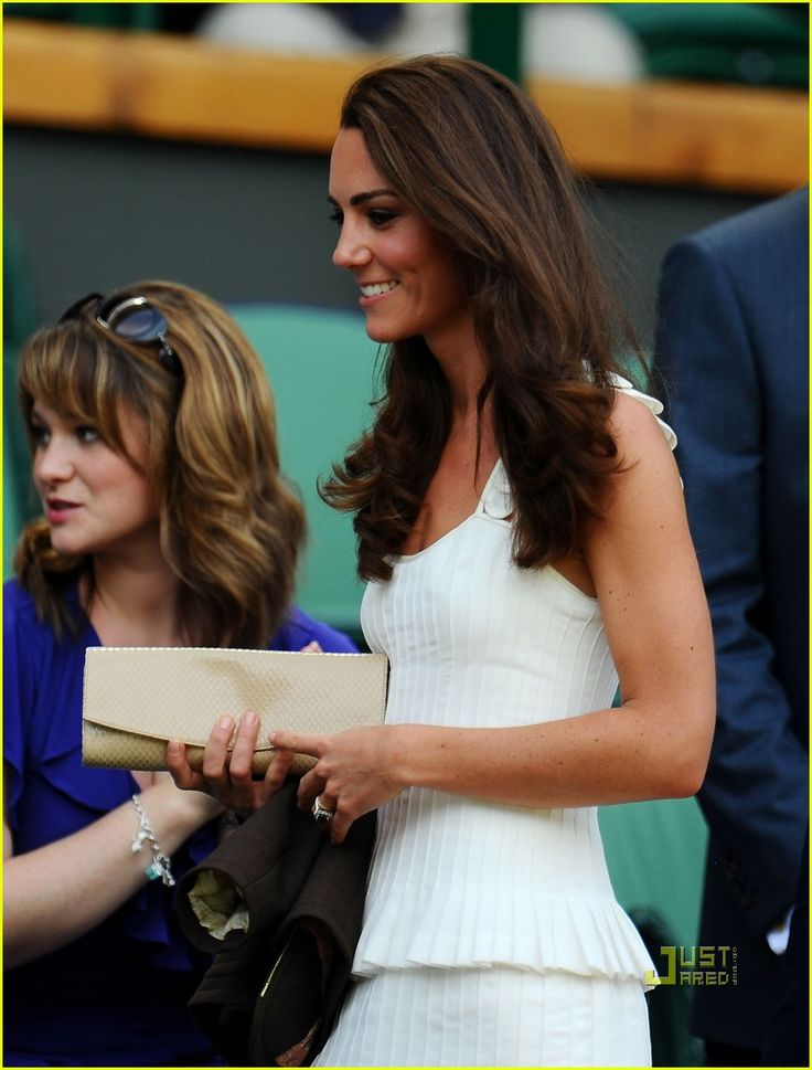 absolutely adorable outfit with awesome pleated & feminine detail worn to Wimbledon