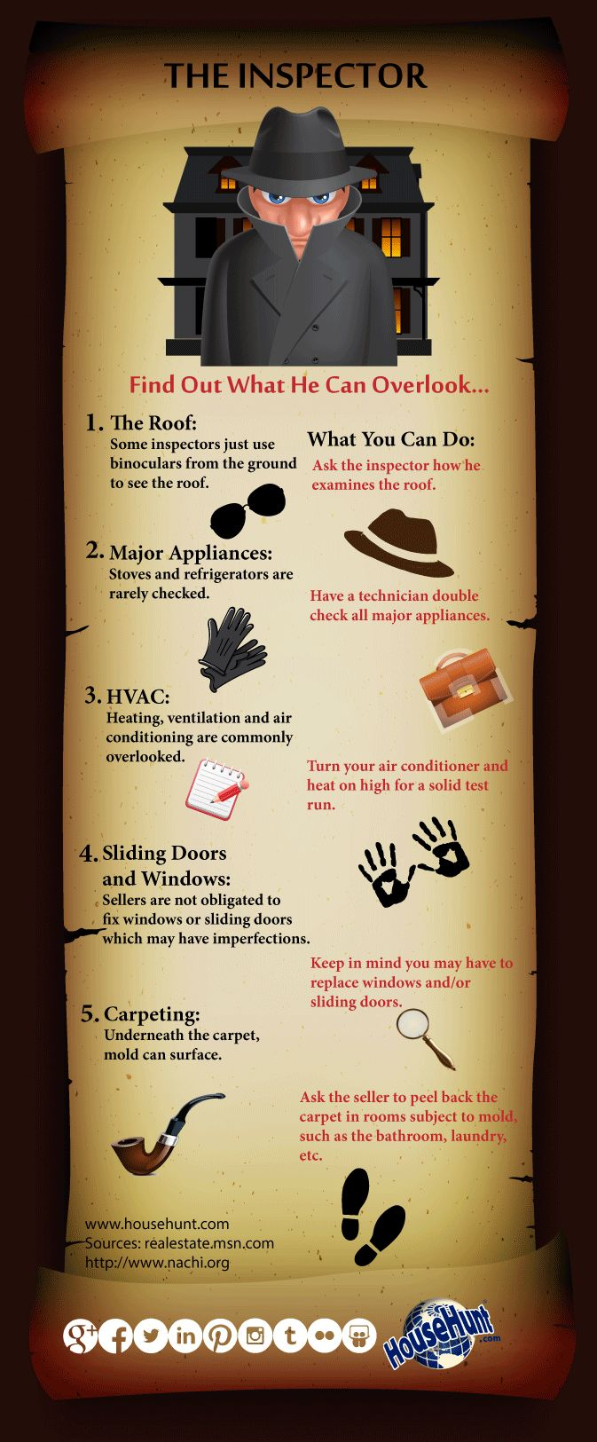 INSP2 What to Expect During a Home Inspection #alisonrosenow.  NIcely done... [Infographic]