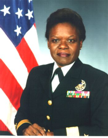 Lillian E. Fishburne, is the first African American woman to become a Rear Admiral in the United States Navy. She is one of only 41 African Americans who have achieved the honor of being a flag officer in the United States Navy as of January 2010.    Fishburne was appointed to the rank of Rear Admiral by President of the United States Bill Clinton and was officially promoted on February 1, 1998. Rear Admiral Fishburne retired from the Navy in February 2001.