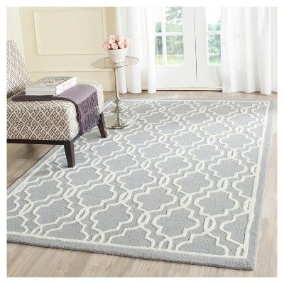 Langley Textured Rug - Silver / Ivory (4' X 6') - Safavieh, Silver/Ivory