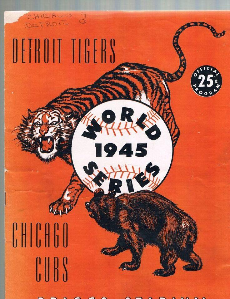 SOLD - 1945 World Series Program Detroit Tigers vs Chicago Cubs Briggs Stadium  - AS IS #DetroitTigers