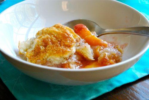 Fresh Peach Cobbler - I've used this recipe twice and it is AWESOME. I added pecans and oatmeal to the topping batter the 2nd time and it was phenomenal. Highly recommend!