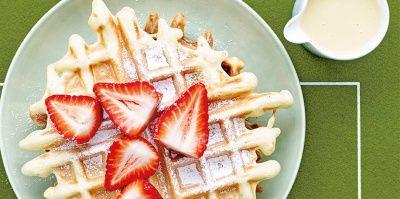 Wafels met chocoladeroom en aardbeien | Simply you