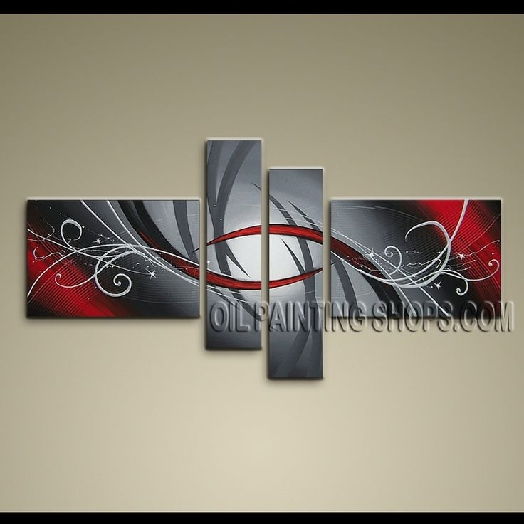Colorful Modern Abstract Painting High Quality Oil Painting For Bed Room Abstract. This 4 panels canvas wall art is hand painted by A.Qiang, instock - $128. To see more, visit OilPaintingShops.com
