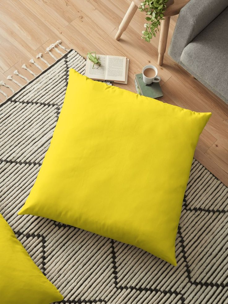 'Banana' Floor Pillow by Moonshine Paradise #banana #pantone #design #pillows #decor