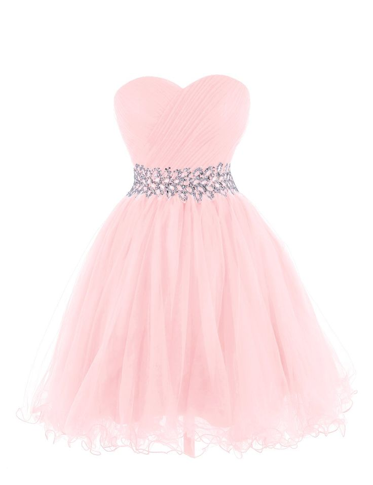 Tidetell 2015 Strapless Royal Blue Homecoming Beaded Short Prom Dresses Ball Gowns | Pink