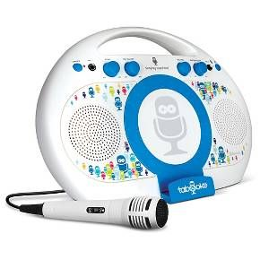The Singing Machine Tabeoke model iSM398BT is sure to entertain your little one with sing along fun and interactive experience. This karaoke system works with any tablet that supports karaoke Apps. Try The Singing Machine Mobile Karaoke App powered by Stingray Karaoke available on iTunes for iOS devices, The Karaoke Anywhere for Android, or the Red Karaoke App for Windows Mobile. <br><br><br>Product features:<br><br>• Wirelessly streams music from any Bl...