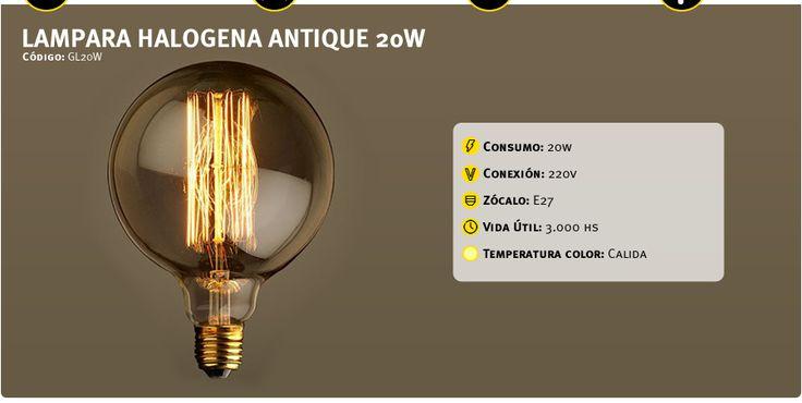 Lampara Globo Antique Vintage 20w Filamento Deco Antiguo - $ 160,00
