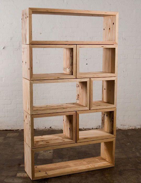 25 melhores ideias de estantes feitas em casa no - Estantes para armarios empotrados ...