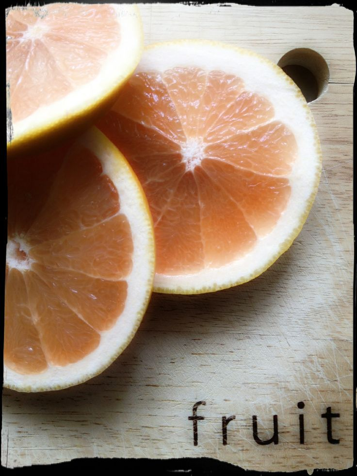 The grapefruit...