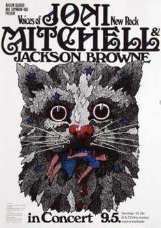 Joni Mitchell & Jackson Browne Germany 1972