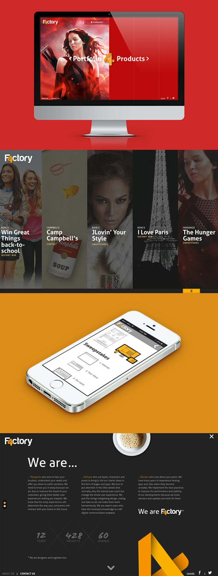 F4ctory website #web_design #digital_agency #mobile_apps