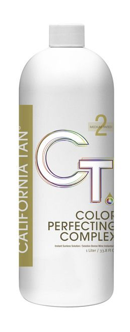 California Tan Color Perfecting Complex Clear Dark Spray Tan Solution, 32 oz Liter