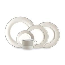Monique Lhuillier for Royal Doulton Etoile Platinum Fine China Dinnerware - Raised dots in rim