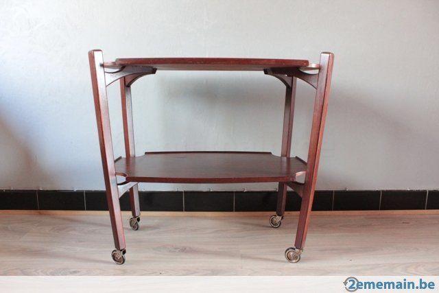 Vintage desserte à roulette en bois - A vendre