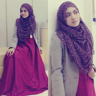 I love the fullness of the abaya