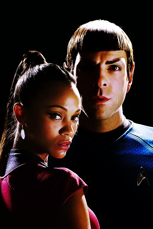 Star Trek: Spock and Nyota Uhura. Yes yes. I remember poor Nurse Chapel and Mariette Hartley and it's Uhura!