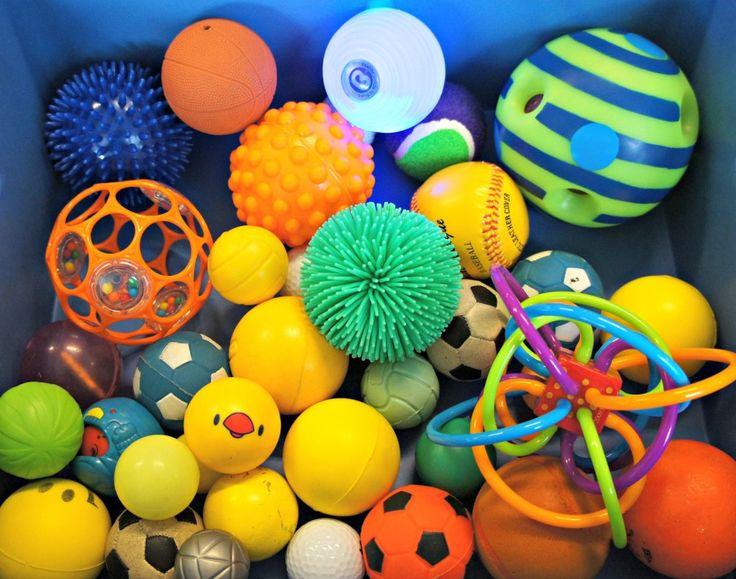 Zintuigentafel: Ballen Kls de ballen laten sorteren, de ballen die wel en niet…