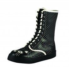 Cream Polkadot Kitty Sneaker TUK Boot