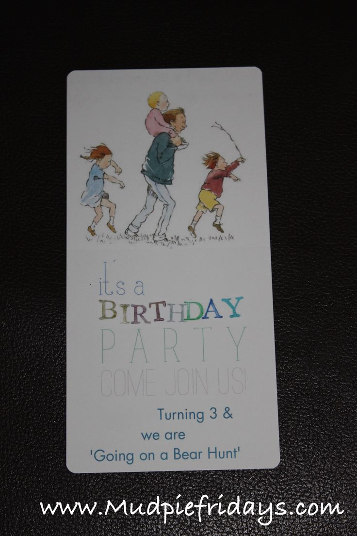 Going on a Bear Hunt Birthday Party Invite