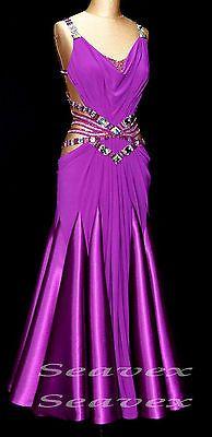 Vestido De Baile elegante Mujeres Salón De Baile Salsa U3716 Tango Vals Swing Quickstep US 8