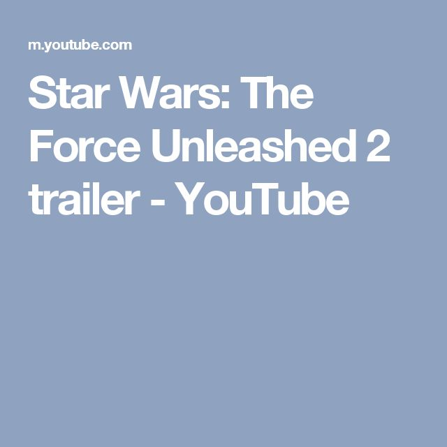 Star Wars: The Force Unleashed 2 trailer - YouTube
