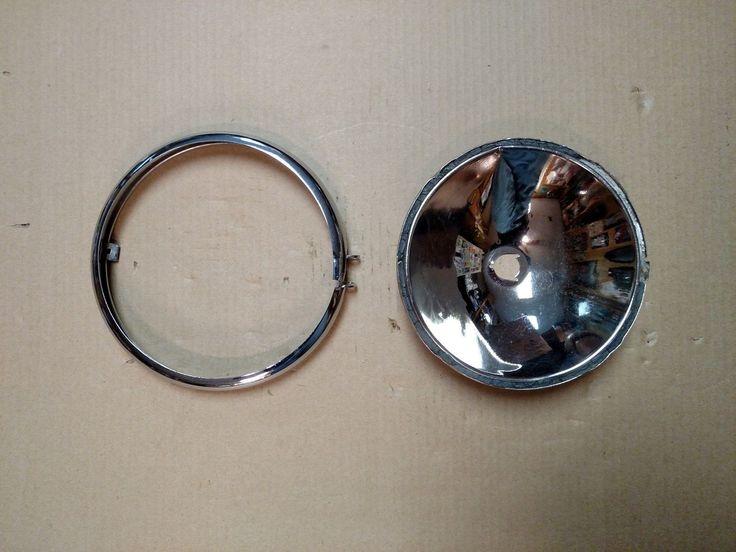 #Harley OEM Harley Davidson Springer Headlight Bezel Ring and Reflector please retweet