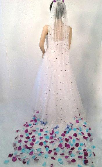 Wedding Veil White Bridal Erfly By Avcustomdesignsandmo 150 00 Women Of Etsy S Pinterest Long Veils And