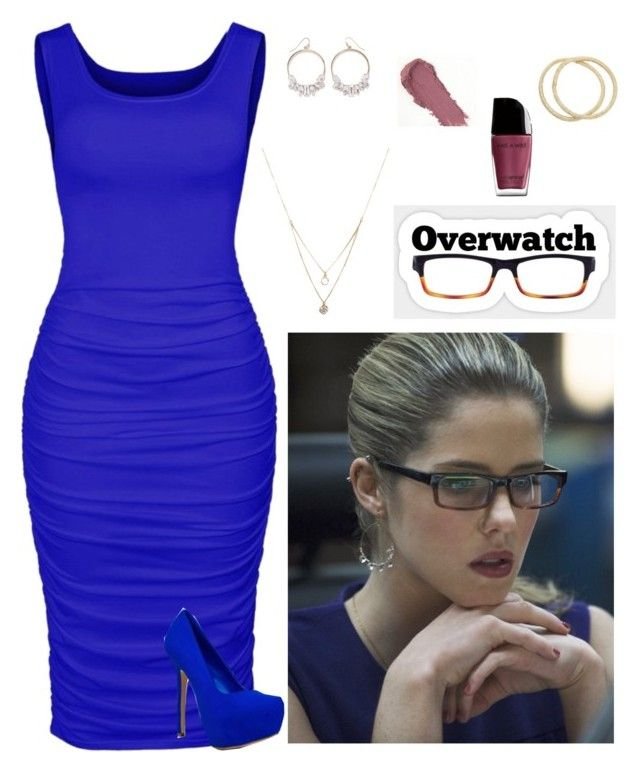 """""""Felicity Smoak: Overwatch (Arrow)"""" by hopeintheheart ❤ liked on Polyvore featuring Ana Accessories, Forever 21, NYX, Mudd and Breckelle's"""