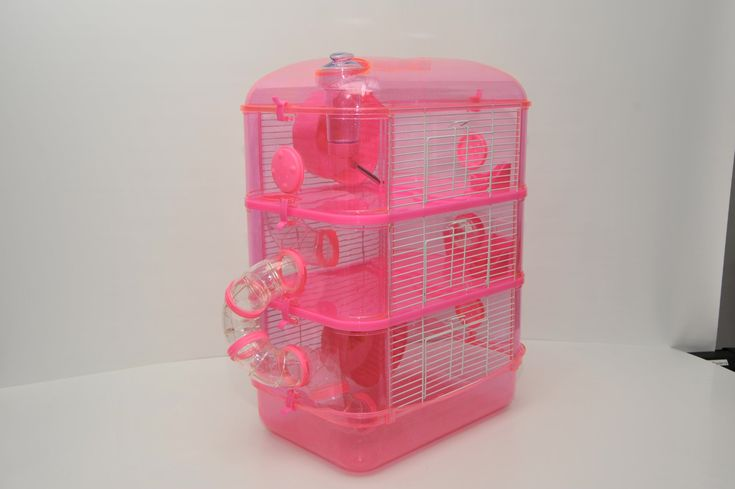 Fantazia 3 Large Pink Glitter Hamster Small Animal Cage With Free Hamster Ball Continuously The Item In 2020 Small Animal Cage Hamster Cage Hamster Cages For Sale