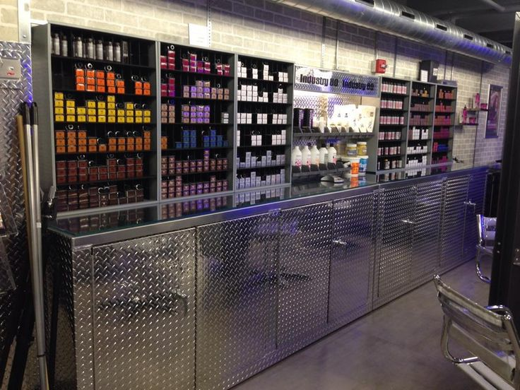 .This storage rack for hair color tubes is extremely effective and efficient  http://urvanx.com/service/