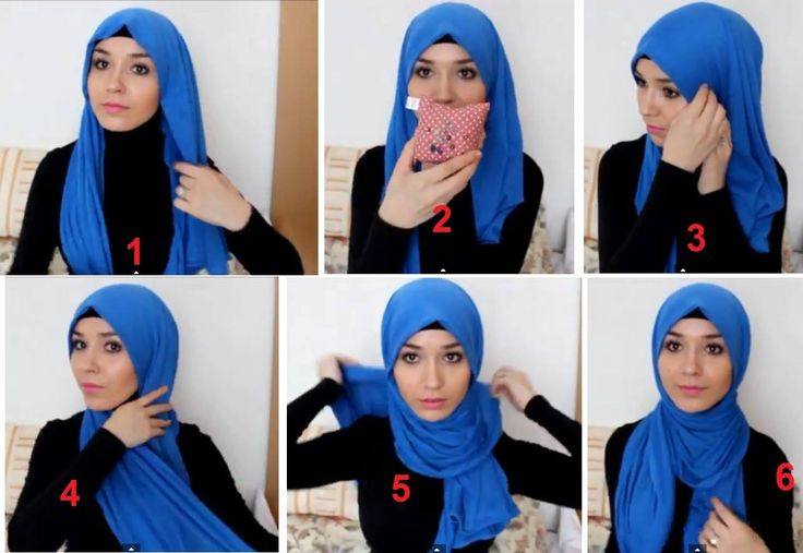 Tight Neck Hijab Style Tutorial  : This hijab style is too easy and may not require any pin but if you feel like you need more security there's no harm in putting on some :D All you have to do is to put your hijab on as usual with a long and short side, if you want pin the sides before wraping, after that wrap your scarf on the neck are, bring the side to the front and there you rae ready to go! :D