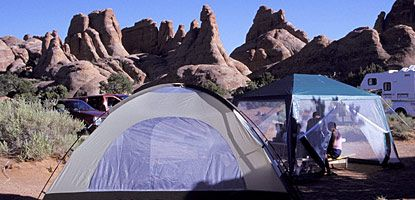 Devils Garden Campground Utah  arches ntl park n of moab  site 53